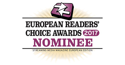 2017 Streaming Media European Readers' Choice Awards logo