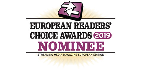 2019 Streaming Media European Readers' Choice Awards logo