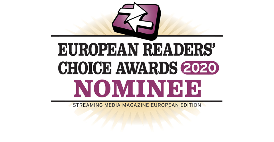 2020 Streaming Media European Readers' Choice Awards nominee logo